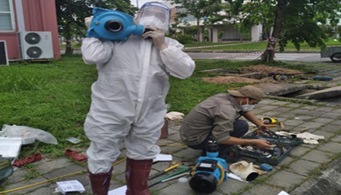 Công ty CP Nước sạch Bắc Giang lắp đặt hệ thống cấp nước cho khu điều trị bệnh nhân Covid-19 tại Trường Cao đẳng Nghề Công nghệ Việt – Hàn Bắc Giang